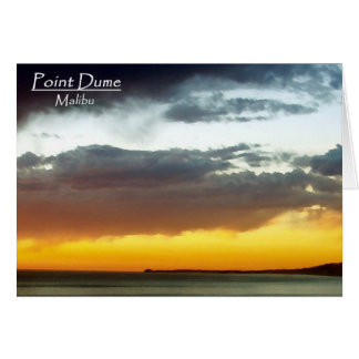 Point Dume Sunset Card