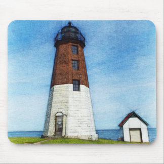 Point judith lighthouse mousepad