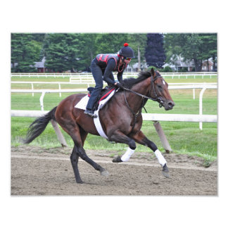 """""""Point of Entry"""" Champion Turf Horse Art Photo"""