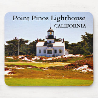 Point Pinos Lighthouse, California Mousepad