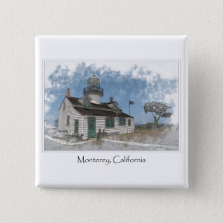 Point Pinos Pacific Grove Monterey California 15 Cm Square Badge