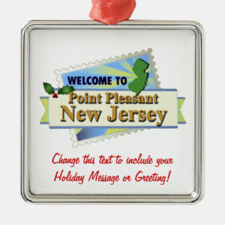 Point Pleasant NJ Metal Ornament