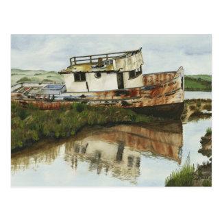 Point Reyes Boat - Mini Collectible Prints Postcard