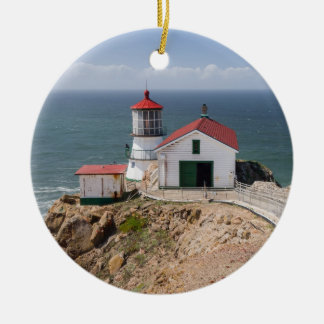 Point Reyes Lighthouse, Marin County, California Ceramic Ornament