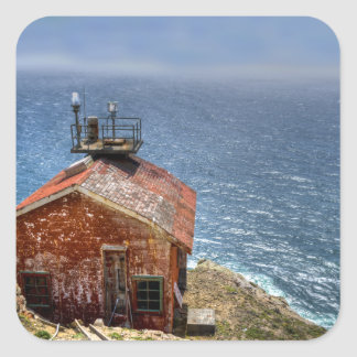 Point Reyes Lighthouse Square Stickers