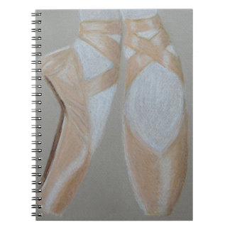 Pointe Ballet Feet Spiral Notebook