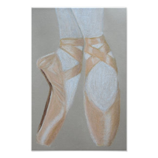 Pointe ballet shoes photo