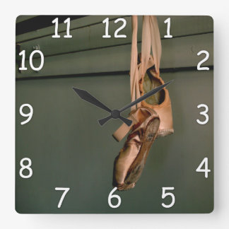 Pointe Shoe Wall Clock