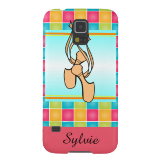 Pointe Shoes on Plaid Galaxy S5 Covers