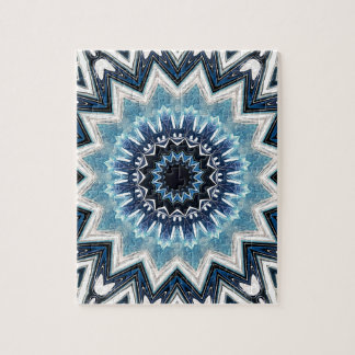 Pointed Blue Mandala Jigsaw Puzzle