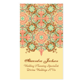 Pointed Intricate Arabesque, Business Card