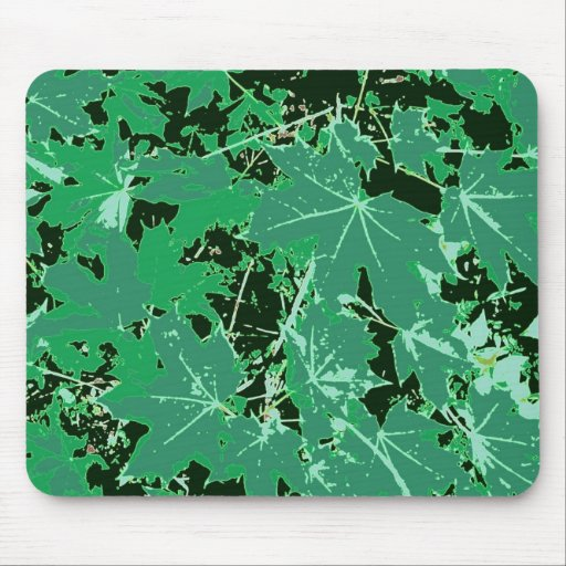 Pointed maple of sheets mouse pad