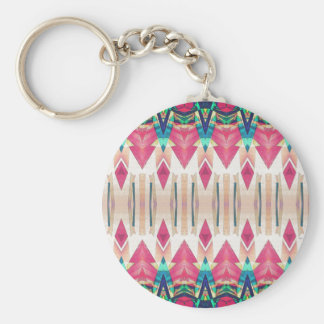 Pointed Mirror Abstract Key Ring