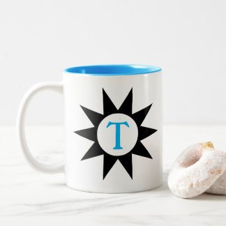 Pointed Star Initial Cup in Blue