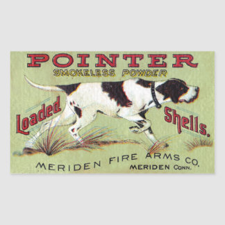 Pointer Decal Rectangular Sticker