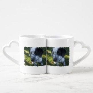 Pointer Dog Couple Mugs