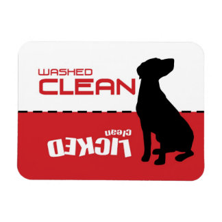 Pointer Dog, Dishwasher Magnet - Licked Clean