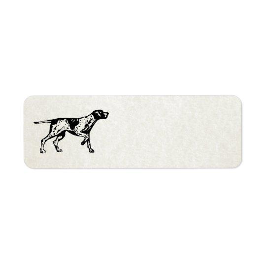 pointer dog return address label