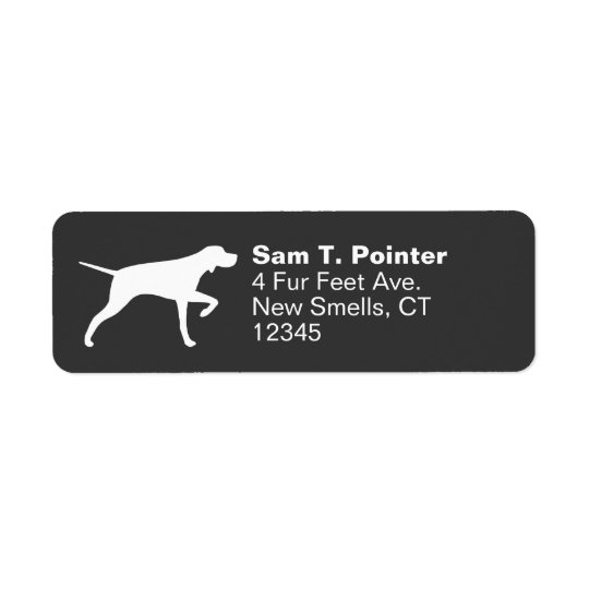Pointer Dog Silhouette Return Address Label