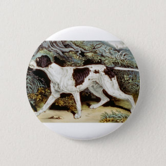 Pointer Dog Water color 6 Cm Round Badge