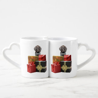 Pointer Puppy Christmas Gifts Lovers Mug Set