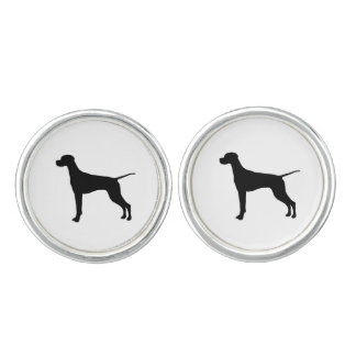 Pointer Silhouette Love Dogs Cuff Links