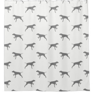 Pointer Silhouettes Pattern Shower Curtain