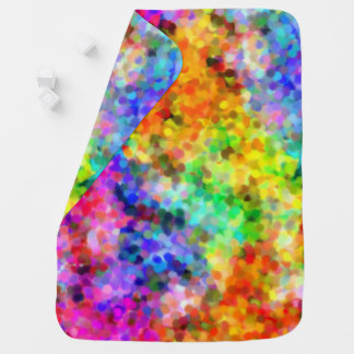 Pointillism Chakra Baby Blanket
