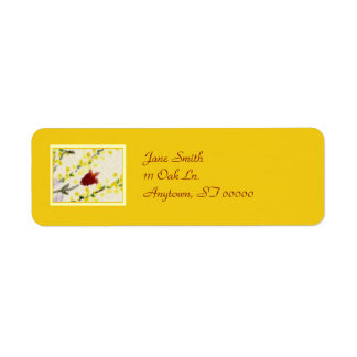 Pointillist Spring Flowers Address Labels
