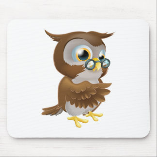 Pointing Cute Owl Mousemat
