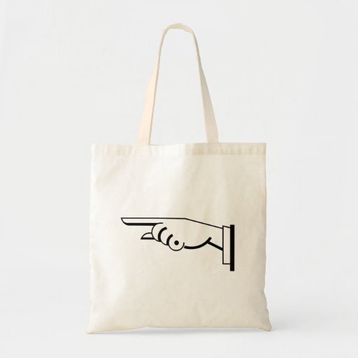 Pointing Finger Tote Bags