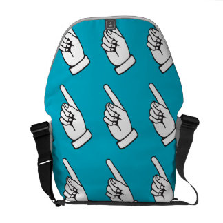 Pointing Finger light blue Courier Bags