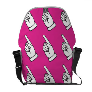 Pointing Finger Magenta Courier Bags