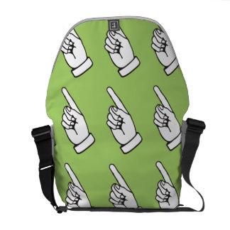 Pointing Finger mint Messenger Bag