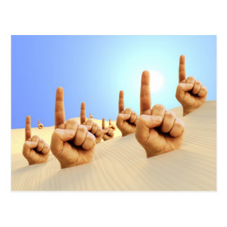Pointing Fingers in the Dunes Postcard