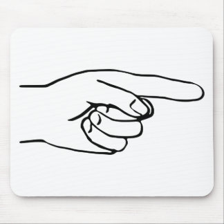 Pointing Hand Mouse Pad