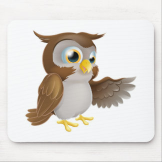 Pointing Owl Character Mouse Pad