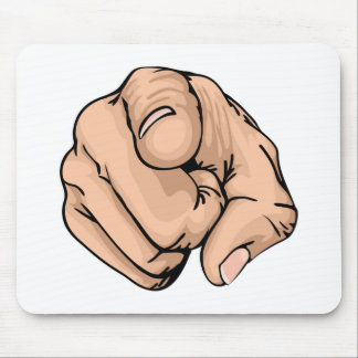 pointing the finger mouse mat