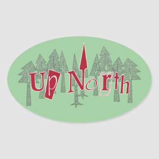 Pointing Up North Pine Trees Sticker
