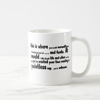 Pointless stuff basic white mug