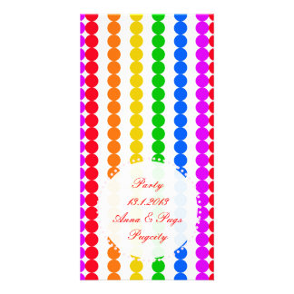 Points Rainbow Personalized Photo Card