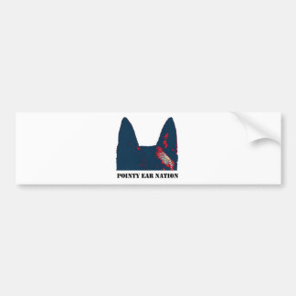 Pointy Ear Nation design Bumper Sticker