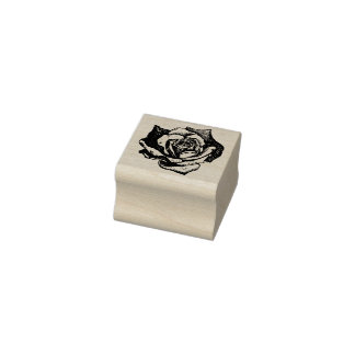 Pointy Petal Rose Rubber Stamp