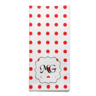 pois rouge napkin