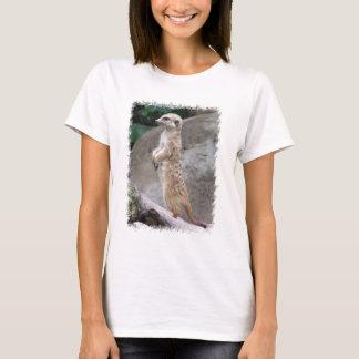 Poised Meerkat Ladies T-Shirt