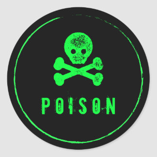 Poison Bottle - Alcohol bottle label for Halloween Round Sticker