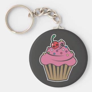 Poison Cherry Cupcake Basic Round Button Key Ring