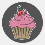 Poison Cherry Cupcake Stickers