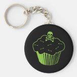 Poison Cupcake Basic Round Button Key Ring