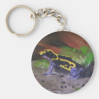 Poison Dart Frog # 3 Basic Round Button Key Ring